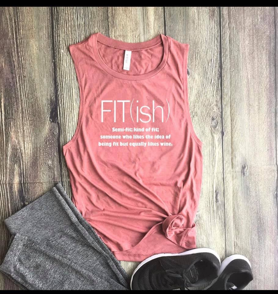 Fit (ish) Word Definition Funny Workout Fitness Shirt Tank top
