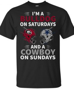 Im A Bulldog On Saturdays And A Cowboy On Sundays Classic Shirt