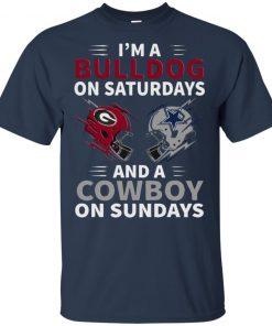 Im A Bulldog On Saturdays And A Cowboy On Sundays Classic Shirt