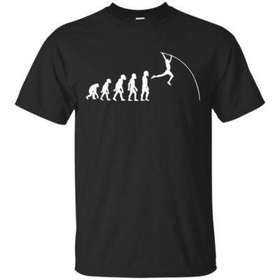 Funny Human Pole Vault Evolution Jumping Running Vaulter Pullover Hoodie