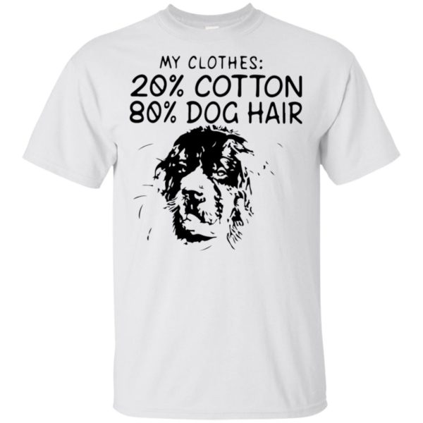 My Clothes 20 Cotton 80 Dog Hair Shirt Tank top