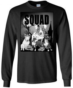 Bull Terrier Halloween Squad Shirt Gift For Men Women Kid Long Sleeve T-Shirt