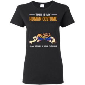 This Is My Human Costume I'm Really A Ball Python Snake Halloween Long Sleeve T-Shirt