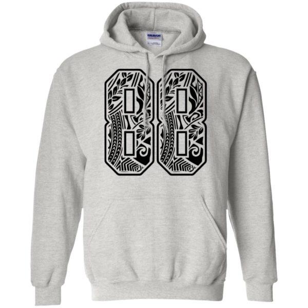 #88 Polynesian Tattoo Black Number 88 Sports Fan Pullover Hoodie Shirt Tank Ls Hoodie