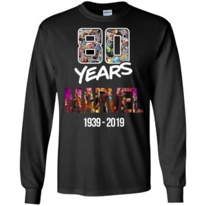 80 Years of Marvel 1939-2019 T-shirt Tank Ls Hoodie