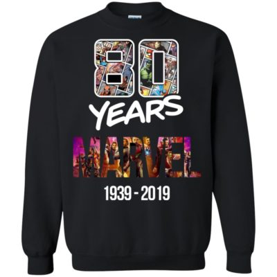 80 Years of Marvel 1939-2019 T-shirt Tank Ls Hoodie