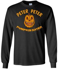 Peter Peter Pumpkin Eater Creepy Halloween Costume Long Sleeve T-shirt Hoodie