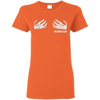 Skeleton Hands Halloween Funny No Bra Club Funny T-Shirt Long Sleeve Hoodie