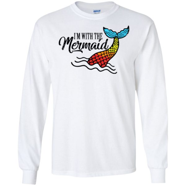 I'm With The Mermaid Matching Halloween Costume For Parents T-Shirt Long Sleeve Hoodie
