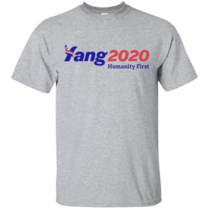 Andrew Yang 2020 Humanity First Shirt Tank top long sleeves