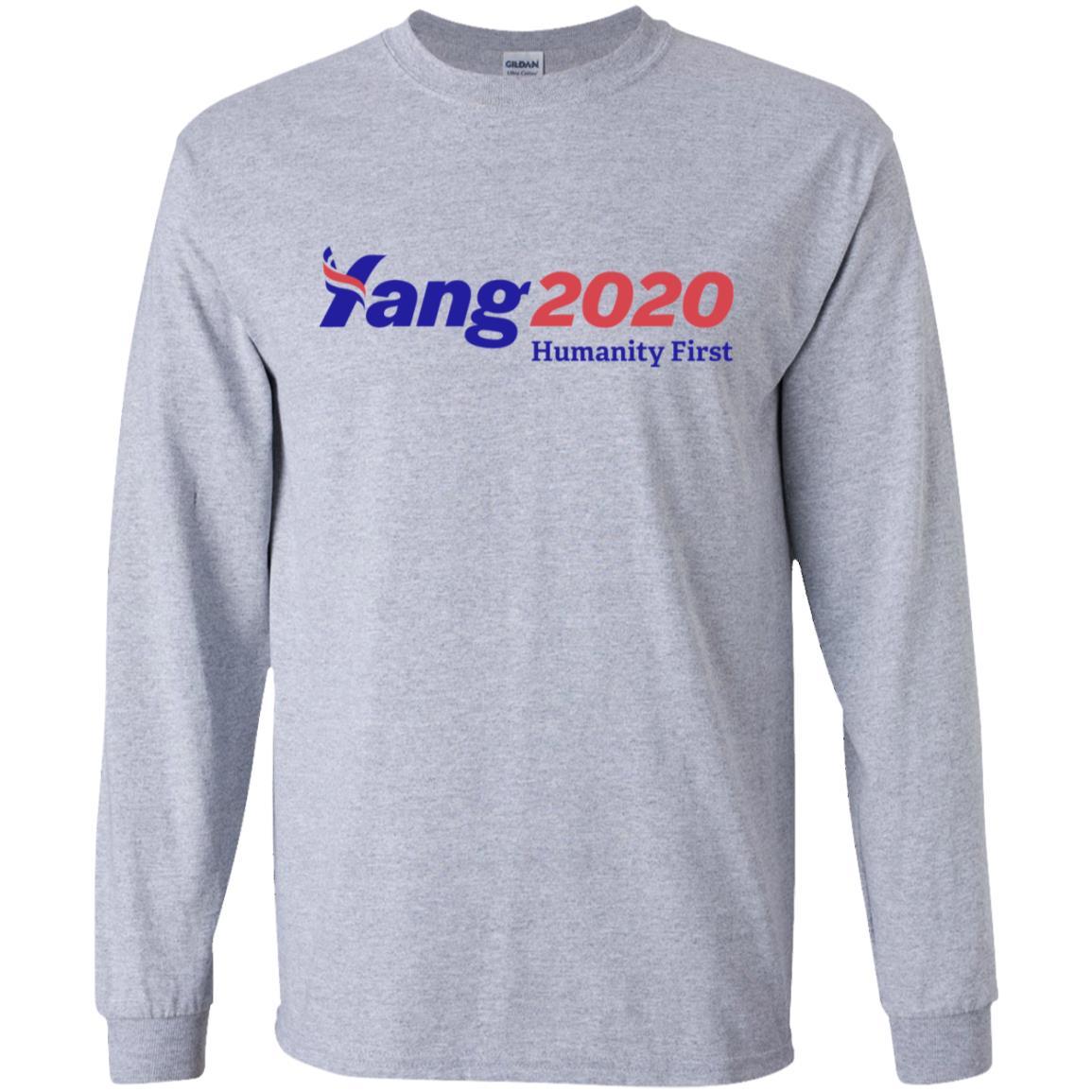 Gildan Color Chart 2020.Andrew Yang 2020 Humanity First Shirt Tank Top Long Sleeves