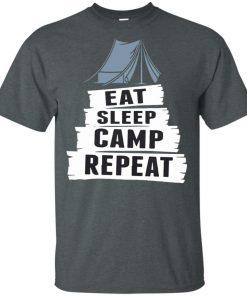 Cool Camping Gift T Shirt Eat Sleep Camp Repeat Long Sleeve T-Shirt
