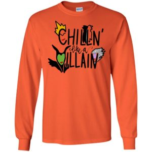 Chillin' like a Villain Disney Halloween Shirt Tank top long sleeves