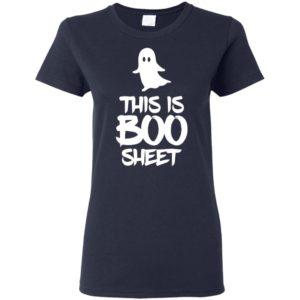 This Is Boo Sheet Halloween Scary Ghost Gift Costume T-Shirt Long Sleeve