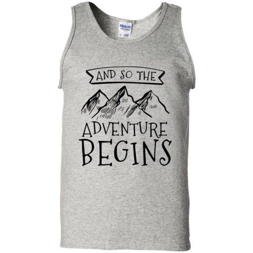 And So The Adventure Begins Outdoors Mountain Hiking Pullover Hoodie T-Shirt