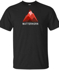 Switzerland Matterhorn Mountain Climbing Swiss Alps T-Shirt Hoodie Long Sleeve