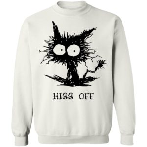 Hiss Off Black Cat Funny Halloween T-Shirt