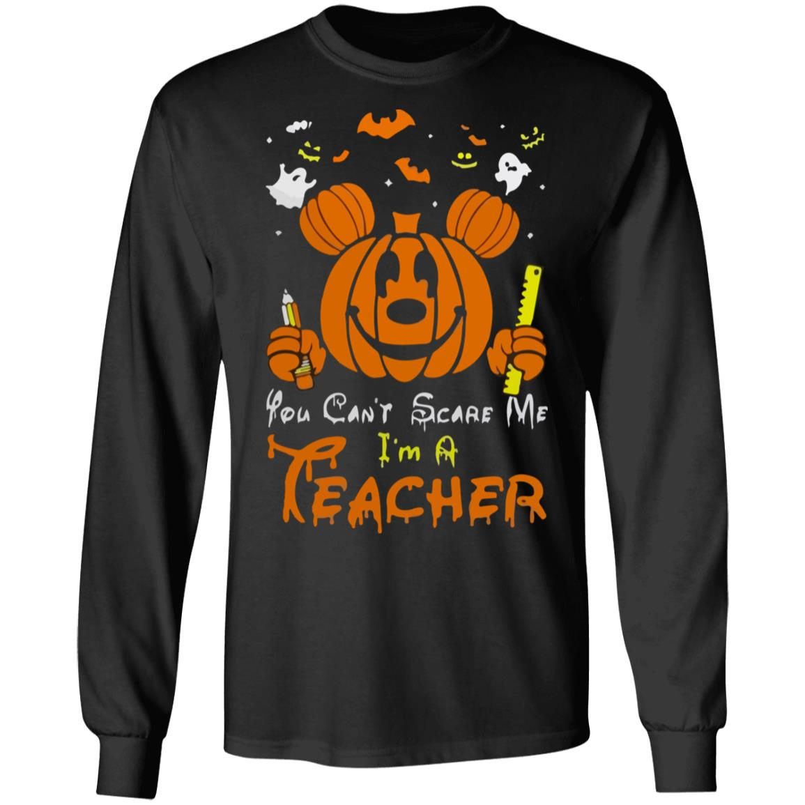 Ladies Mickey Mouse Halloween 2019 Flowy Off the Shoulder Long Sleeve t-shirt