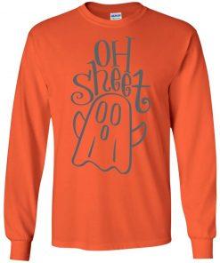 Halloween Ad Sheet Ghost Over Shirt Long Sleeve Hoodie