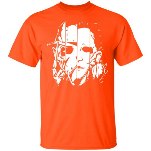 Halloween Horror Movie Characters Mashup Shirt Long Sleeve Hoodie