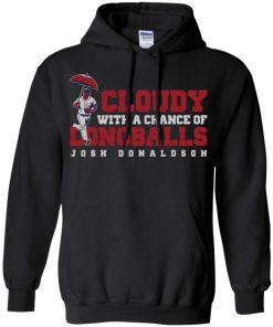 Josh Donaldson Cloudy With A Chance Of Longballs Shirt Tank Hoodie Ls