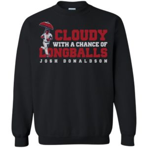 Josh Donaldson Cloudy With A Chance Of Longballs Shirt Tank Hoodie Ls
