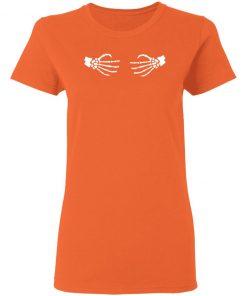 Skeleton Wrap Around Hands Women's T-shirt Hoodie Long Sleeve