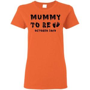 Mummy to be October 2019 Halloween Shirt Ls Hoodie Tank