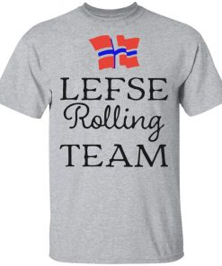 Lefse Rolling Team Flag of Norway Shirt