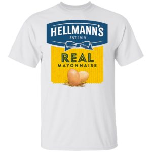 Hellmann's Real Mayonnaise Crew T Shirt Long Sleeve Hoodie Retro 70's 80's