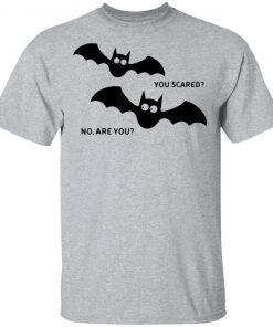 Scared Bats Funny Halloween Shirt
