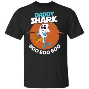 Daddy Shark Boo Boo Boo Shark Ghost Halloween Shirt