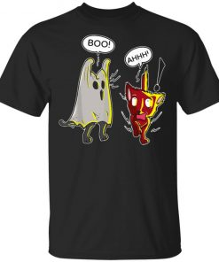 Boo Cute Cat Ghost Scares Another Cat Halloween Shirt