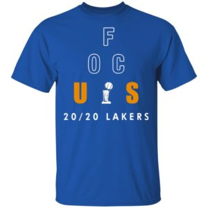 Official Anthony Davis Focus 20 20 Lakers Shirt
