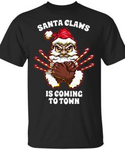 Christmas Wolverine Santa Claus Is Coming To Town Funny Shirt