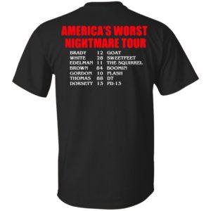 America's Worst Nightmare Tour Brady Goat White Sweetfeet Shirt