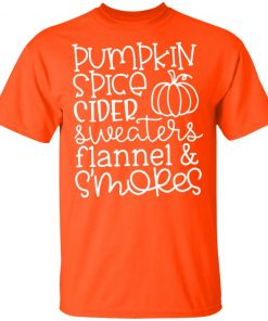 Pumpkin Spice Cider Sweaters Flannel & S'mores Shirt