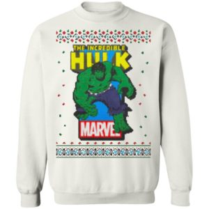 MCU Marvel The Incredible Hulk Logo Christmas sweater