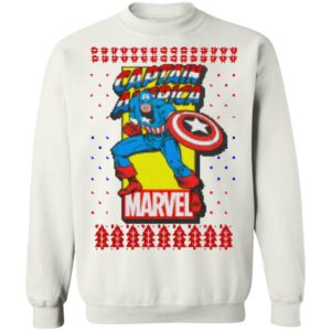MCU Marvel Captain America Logo Christmas sweater