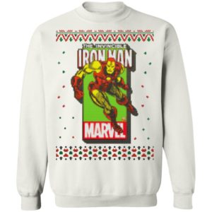 MCU Marvel The Invincible Iron Man Logo Christmas sweater