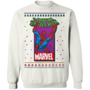 MCU Marvel The Amazing Spider Man Logo Christmas sweatshirt