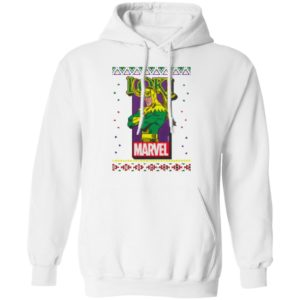 MCU Marvel Loki Logo Christmas hoodie