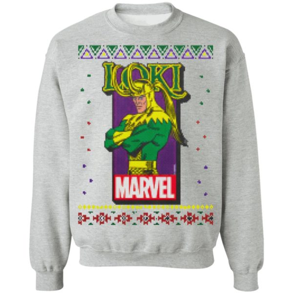 MCU Marvel Loki Logo Christmas sweater