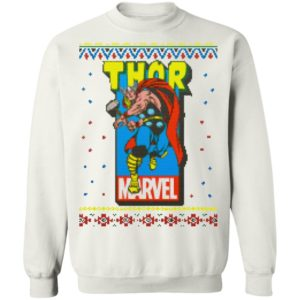 MCU Marvel The Mighty Thor Logo Christmas sweater