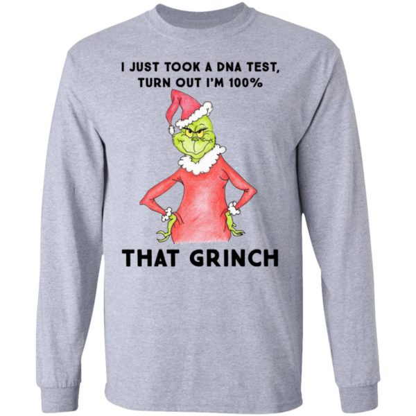 I just took a DNA test turns out i'm 100% that Grinch Santa ls
