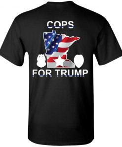 Cops For Trump Back Shirt, Ls, Hoodie