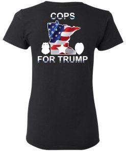 Cops For Trump Back Shirt, Ls, Hoodie