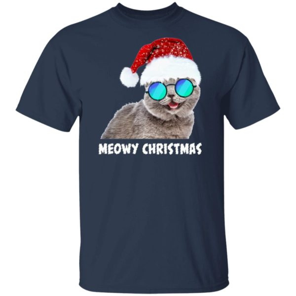 Meowy Christmas Funny Cat Sweatshirt