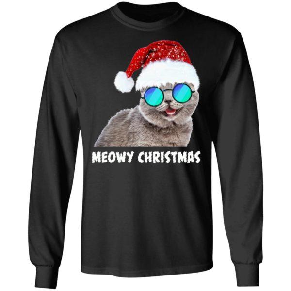 Meowy Christmas Funny Cat long sleeve