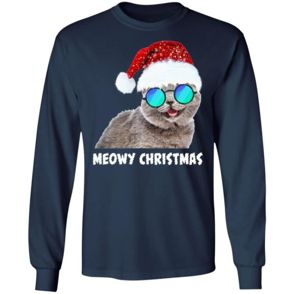 Meowy Christmas Funny Cat ls
